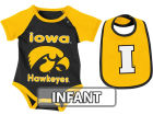 Iowa Hawkeyes Colosseum NCAA Infant Rocker Bib/Bodysuit Set Infant Apparel