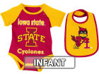 Iowa State Cyclones Colosseum NCAA Infant Rocker Bib/Bodysuit Set Infant Apparel