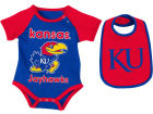 Kansas Jayhawks Colosseum NCAA Newborn Junior Creeper/Bib Set Newborn & Infant