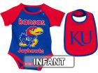 Kansas Jayhawks Colosseum NCAA Infant Rocker Bib/Bodysuit Set Infant Apparel