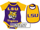 LSU Tigers Colosseum NCAA Infant Rocker Bib/Bodysuit Set Infant Apparel
