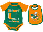 Miami Hurricanes Colosseum NCAA Newborn Junior Creeper/Bib Set Newborn & Infant