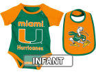 Miami Hurricanes Colosseum NCAA Infant Rocker Bib/Bodysuit Set Infant Apparel