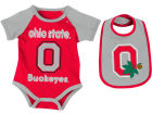 Ohio State Buckeyes Colosseum NCAA Newborn Junior Creeper/Bib Set Newborn & Infant