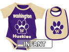 Washington Huskies Colosseum NCAA Infant Rocker Bib/Bodysuit Set Infant Apparel