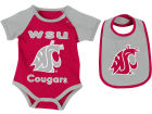 Washington State Cougars Colosseum NCAA Newborn Junior Creeper/Bib Set Newborn & Infant