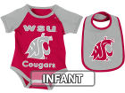 Washington State Cougars Colosseum NCAA Infant Rocker Bib/Bodysuit Set Infant Apparel