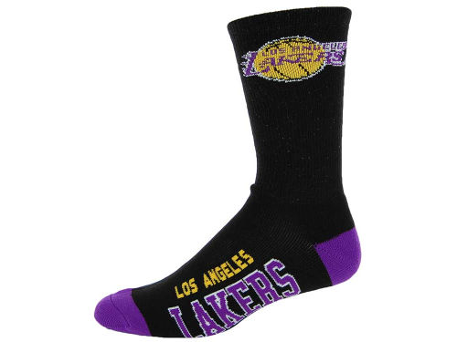 Los Angeles Lakers For Bare Feet Deuce Crew 504 Socks