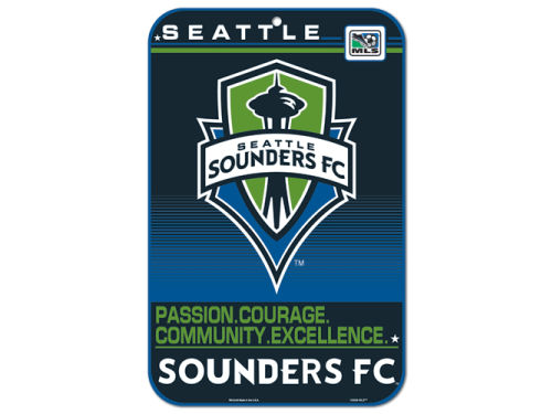 Seattle Sounders FC Wincraft 11x17 Plastic Sign