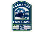 Seattle Seahawks Wincraft 11x17 Wood Sign Flags & Banners