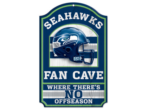 Seattle Seahawks Wincraft 11x17 Wood Sign