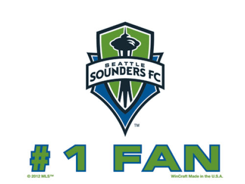 Seattle Sounders FC Wincraft 3x4 Ultra Decal