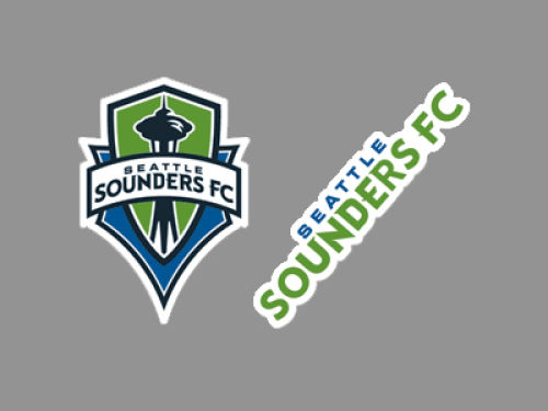Seattle Sounders FC Wincraft 2-pack 4x4 Die Cut Decal