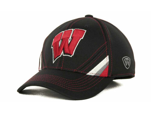 Wisconsin Badgers Top of the World NCAA Pace Black Cap Hats
