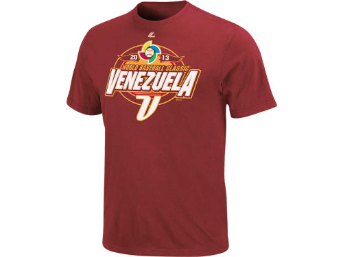 Venezuela Majestic MLB World Baseball Classic Clean Up Hitter T-Shirt