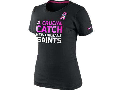 New Orleans Saints Nike NFL Womens BCA Attitude T-Shirt