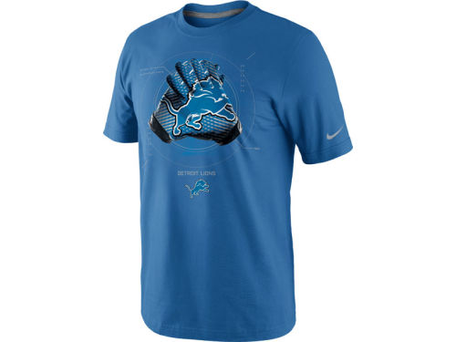 Detroit Lions Nike NFL Glove Lock Up T-Shirt