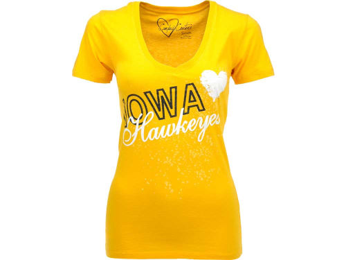 Iowa Hawkeyes Campus Couture NCAA Womens Baiely Vneck T-Shirt