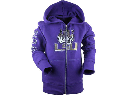 LSU Tigers Campus Couture NCAA Girls Summer Full Zip Hoodie