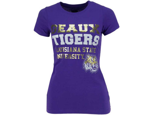 LSU Tigers Campus Couture NCAA Womens Brooklyn Crew T-Shirt