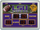 LSU Tigers Scoreboard Wall Clock/Thermometer Bed & Bath