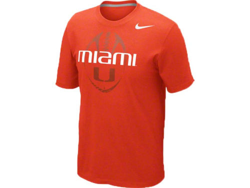 Miami Hurricanes Nike NCAA Football Team Issue T-Shirt