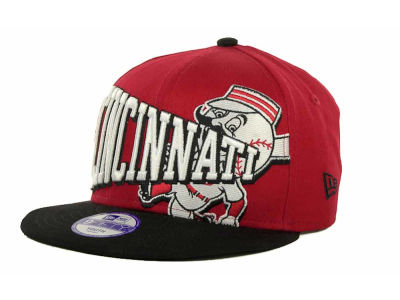 Cincinnati Reds MLB Youth Text Slant 9FIFTY Cap Hats