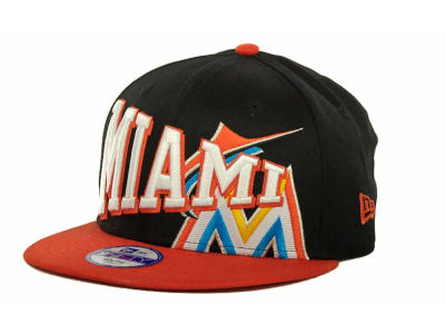 Miami Marlins MLB Youth Text Slant 9FIFTY Cap Hats