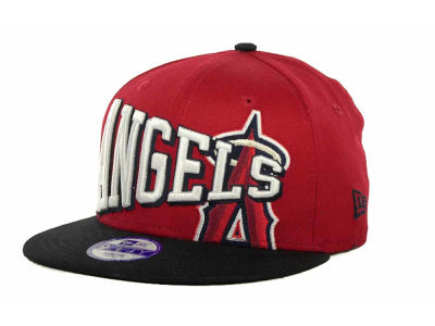 Los Angeles Angels of Anaheim MLB Youth Text Slant 9FIFTY Cap Hats