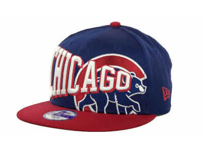 Chicago Cubs MLB Youth Text Slant 9FIFTY Cap Hats