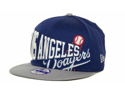 Los Angeles Dodgers MLB Youth Text Slant 9FIFTY Cap Hats