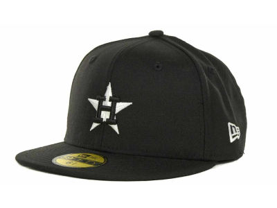 Houston Astros MLB Black and White Fashion 59FIFTY Hats