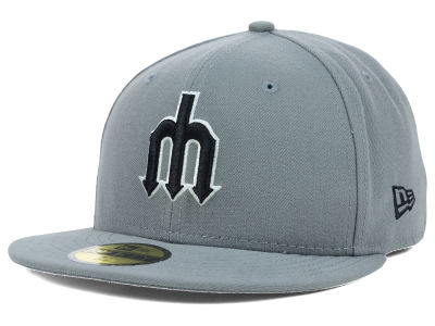 Seattle Mariners MLB Gray BW 59FIFTY Cap Hats