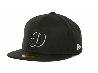 Los Angeles Dodgers MLB Black and White Fashion 59FIFTY Hats