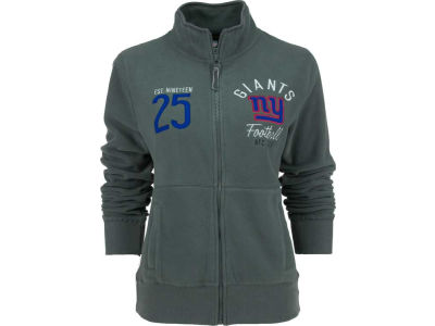 New York Giants NFL Womens Polar Fleece Full Zip Track Jacket