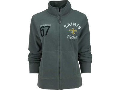 New Orleans Saints NFL Womens Polar Fleece Full Zip Track Jacket