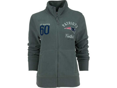 New England Patriots NFL Womens Polar Fleece Full Zip Track Jacket