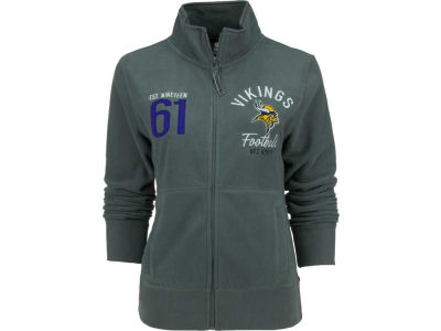Minnesota Vikings NFL Womens Polar Fleece Full Zip Track Jacket