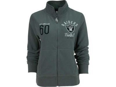 Oakland Raiders NFL Womens Polar Fleece Full Zip Track Jacket