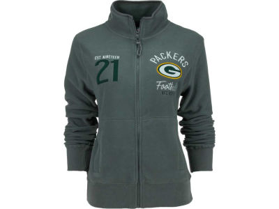 Green Bay Packers NFL Womens Polar Fleece Full Zip Track Jacket