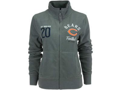 Chicago Bears NFL Womens Polar Fleece Full Zip Track Jacket