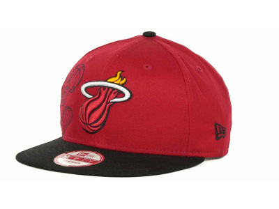 Miami Heat NBA Side Team Up Snapback 9FIFTY Cap Hats
