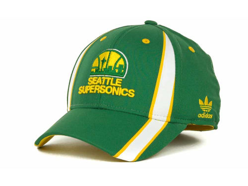 Seattle SuperSonics adidas NBA Rev 30 Flex Cap Hats