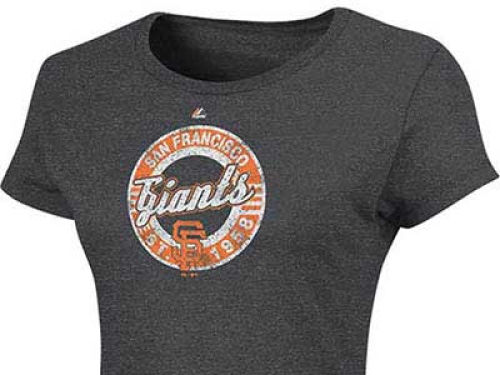 San Francisco Giants Majestic MLB Womens Retroized Heathered T-Shirt