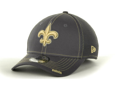 New Orleans Saints NFL Graphite Neo 39THIRTY Cap Hats