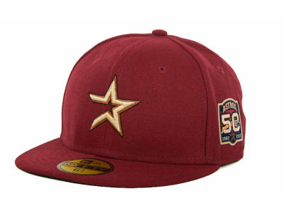 Houston Astros 2012 50th Anniversary Patch Kids AC 59FIFTY Hats
