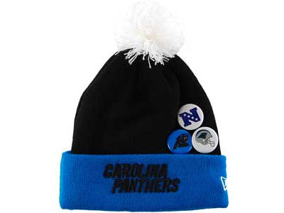 Carolina Panthers NFL Button Up Knit Hats