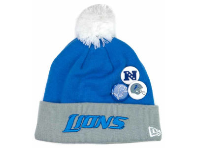 Detroit Lions NFL Button Up Knit Hats