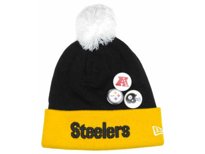 Pittsburgh Steelers NFL Button Up Knit Hats