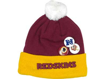 Washington Redskins NFL Button Up Knit Hats